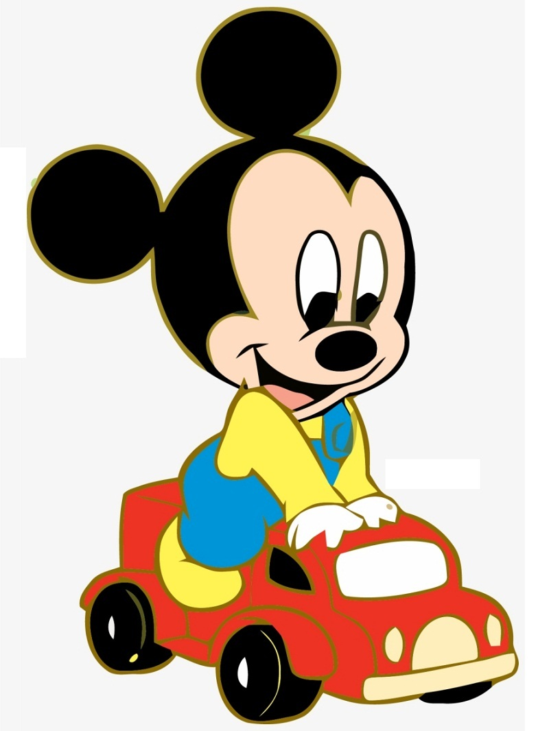 Baby Mickey Driving Toy Car