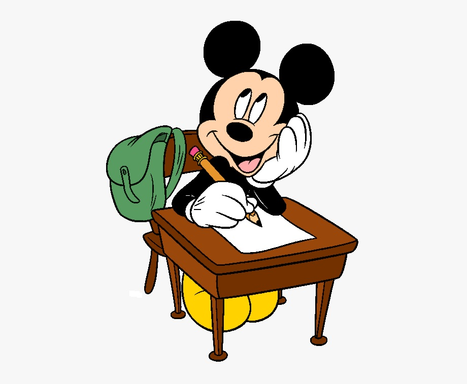 Mickey Studying