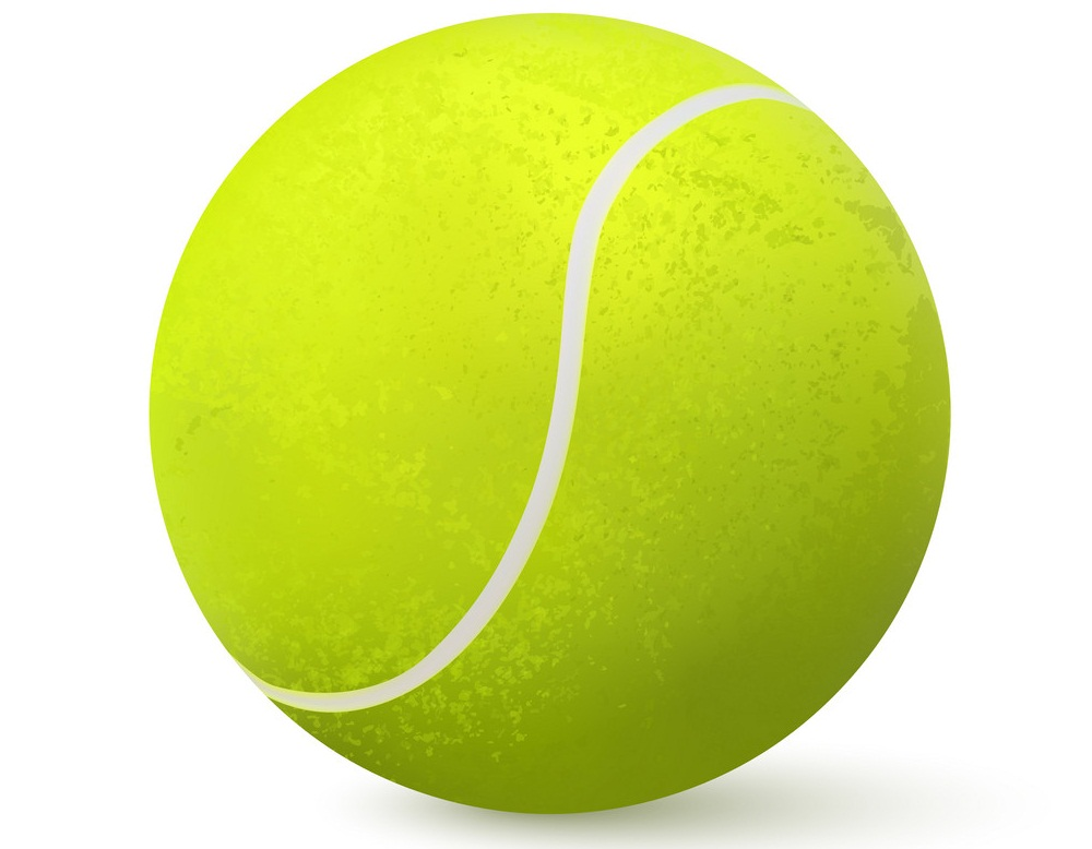 3d realistic tennis ball
