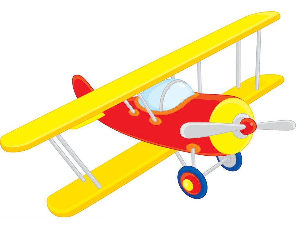 yellow and red airplane