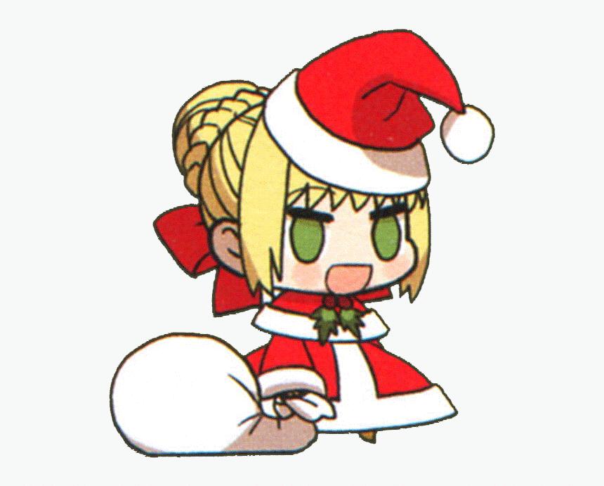 Anime Santa Hat Cute Girl
