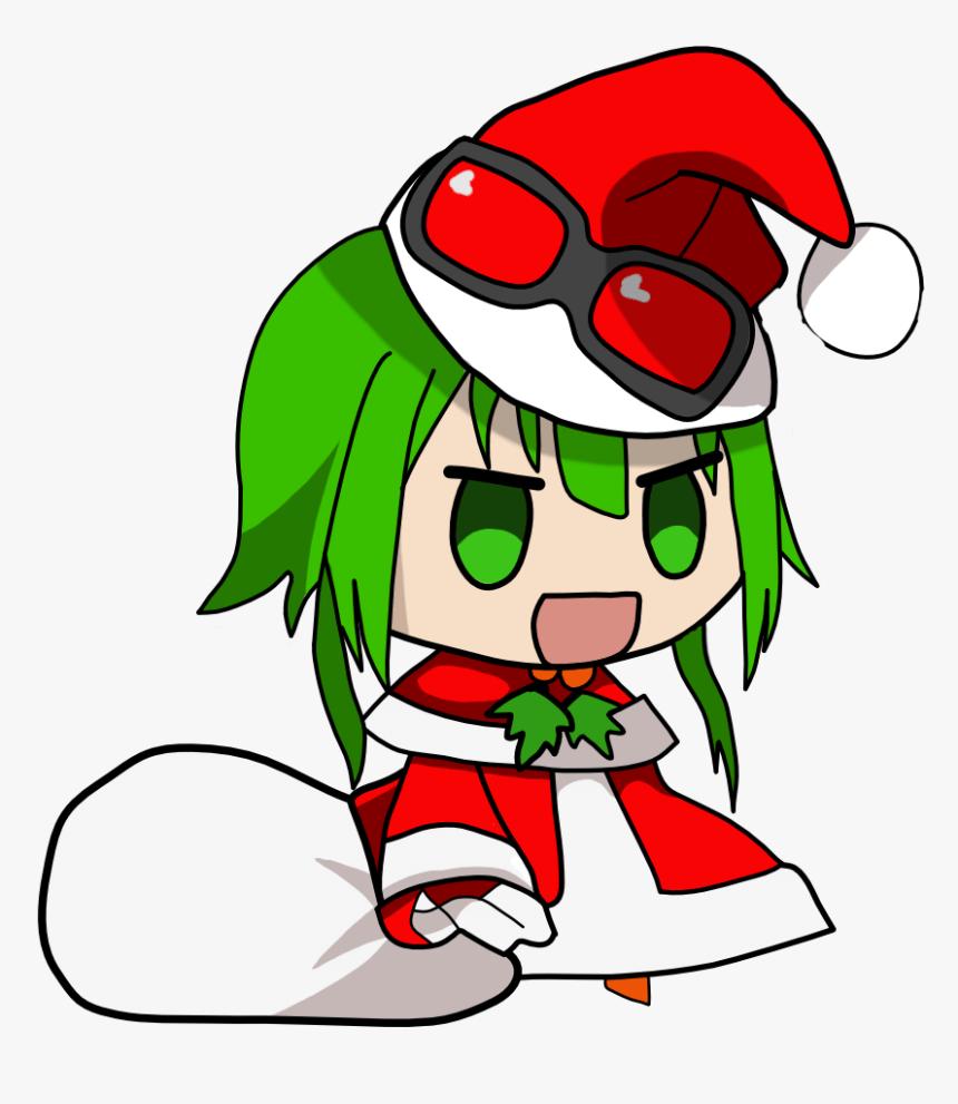 Chibi Anime Girl Santa Hat