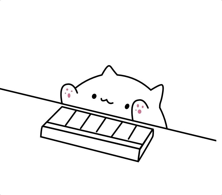 Clipart Bongo Cat png 1