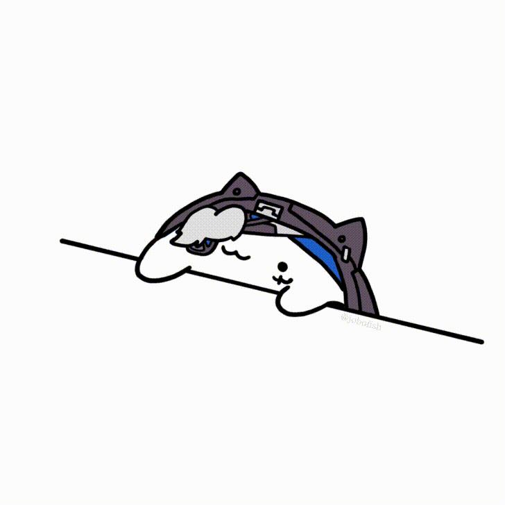 Clipart Bongo Cat png 9