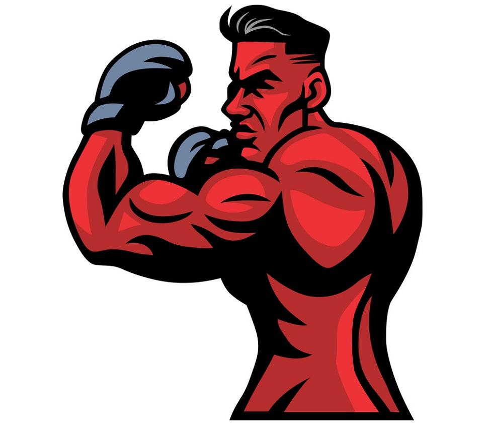 MMA fight mascot pose