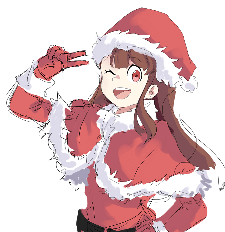 Santa Hat Anime Girl Png