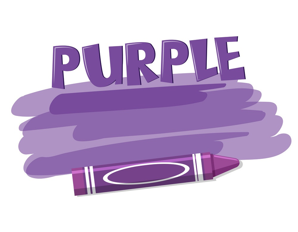 a purple crayon