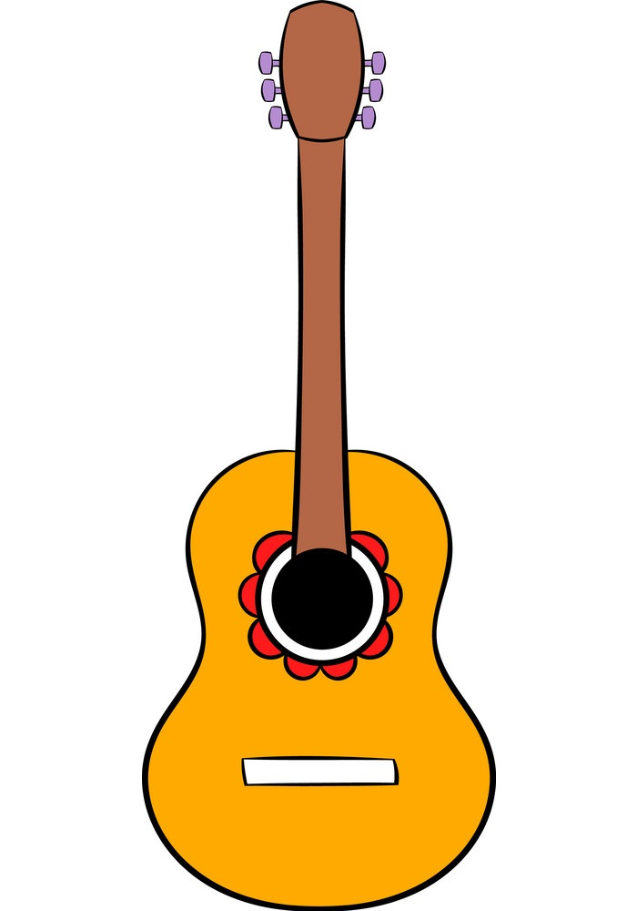 simple acoustic guitar