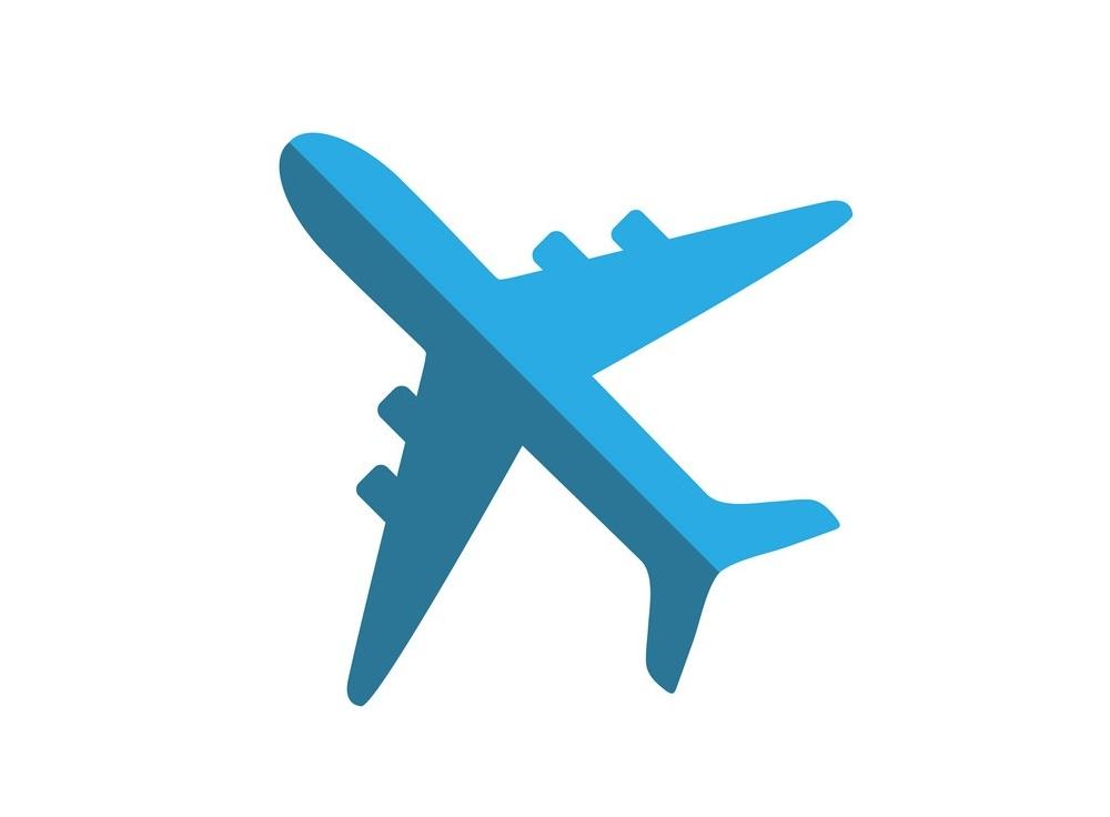 Bule Airplane icon flat design