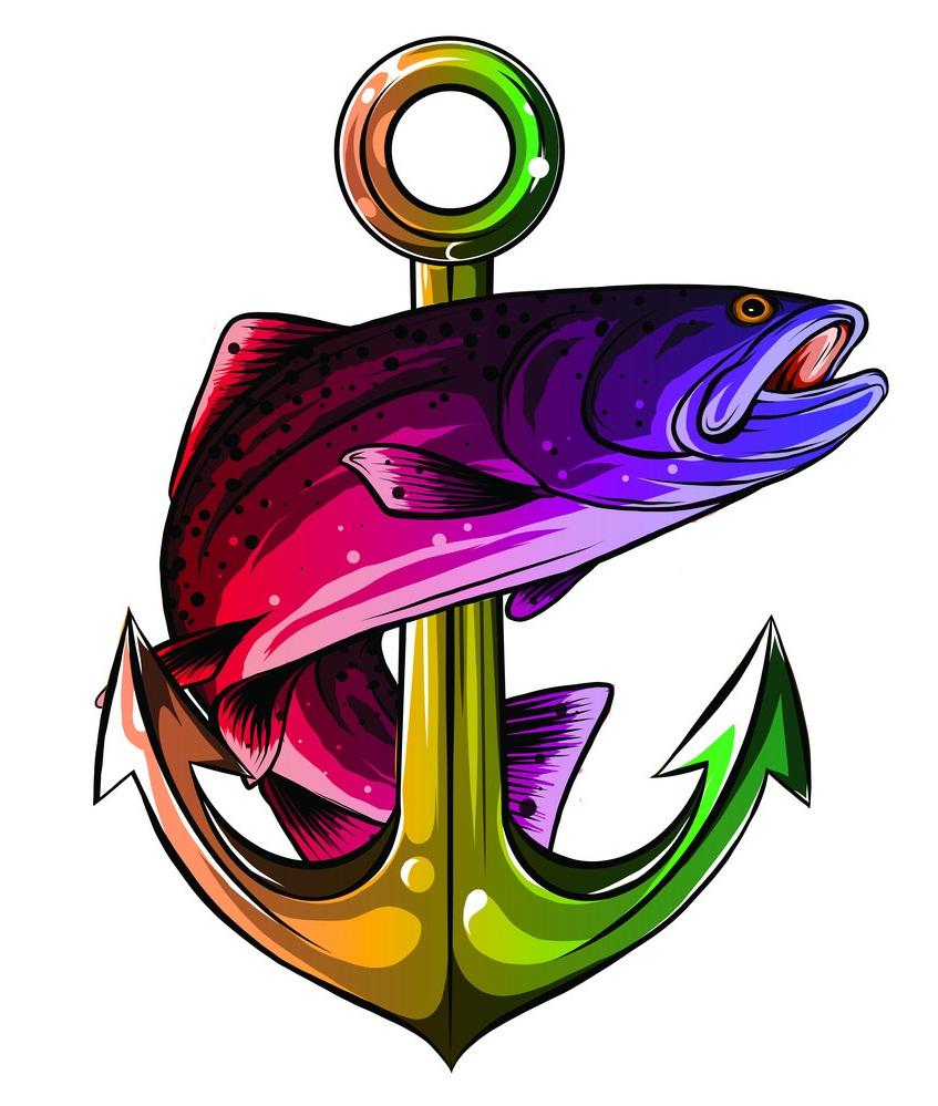 anchor and fish