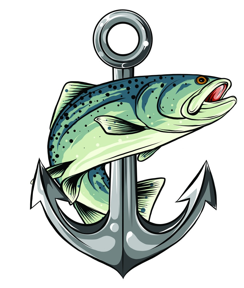 anchor with salmon