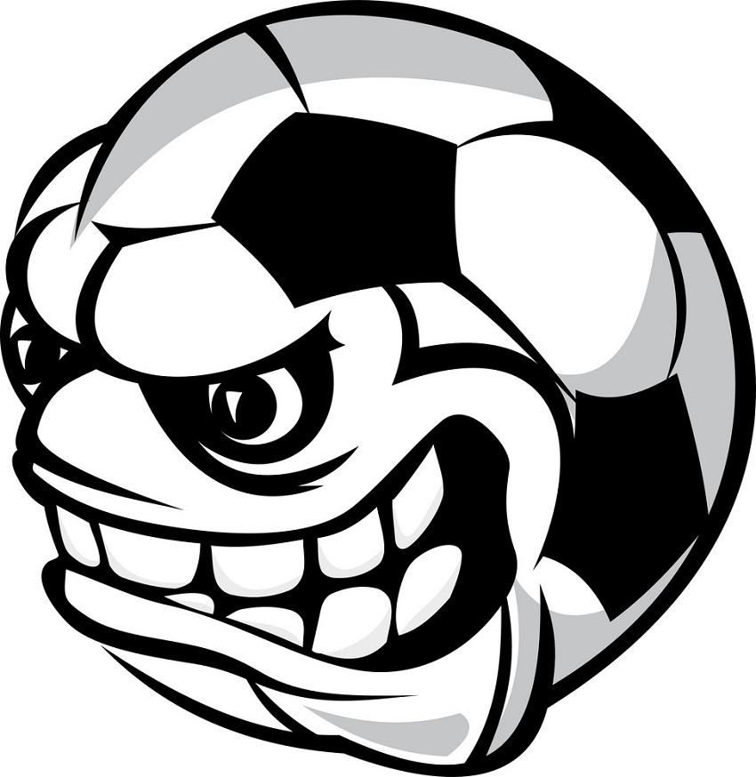 angry soccer ball