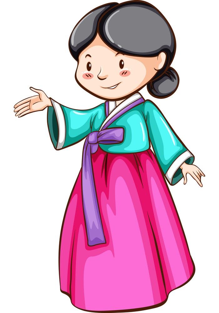 Asian Girl Clipart