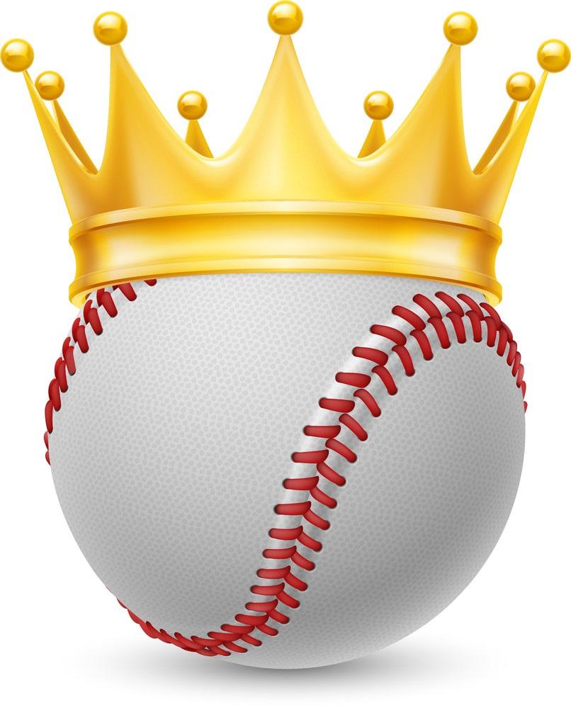 baseball ball with crown