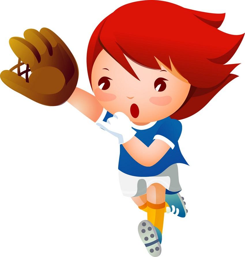baseball girl player running