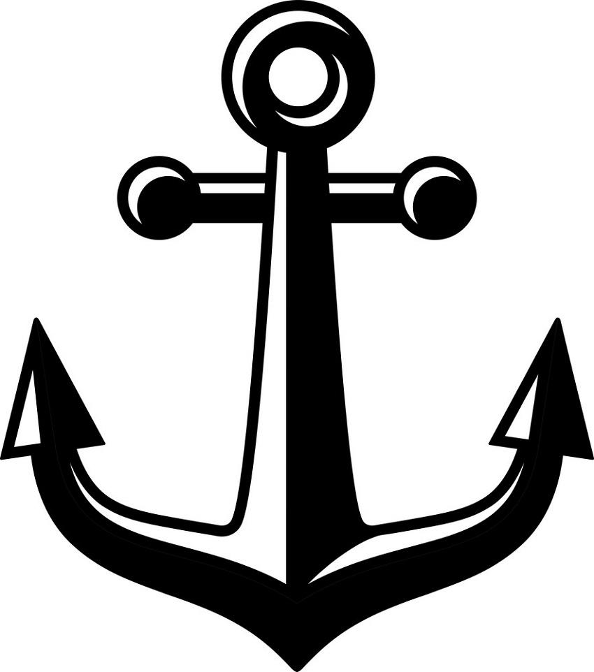 black anchor symbol