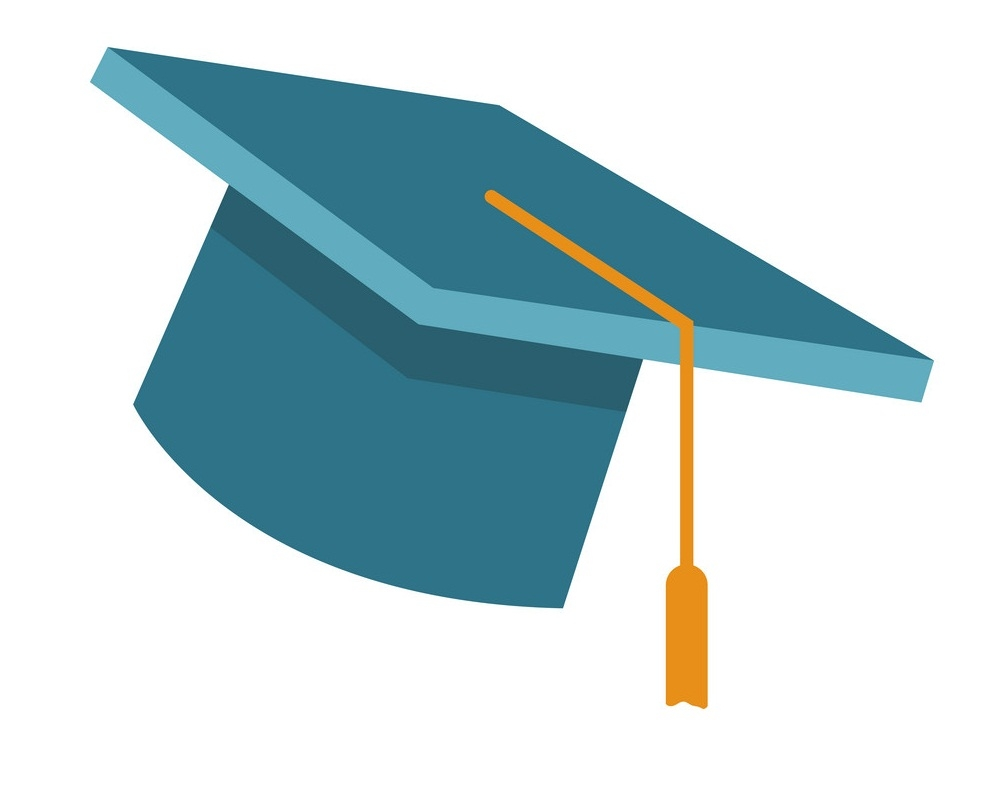 blue graduation hat