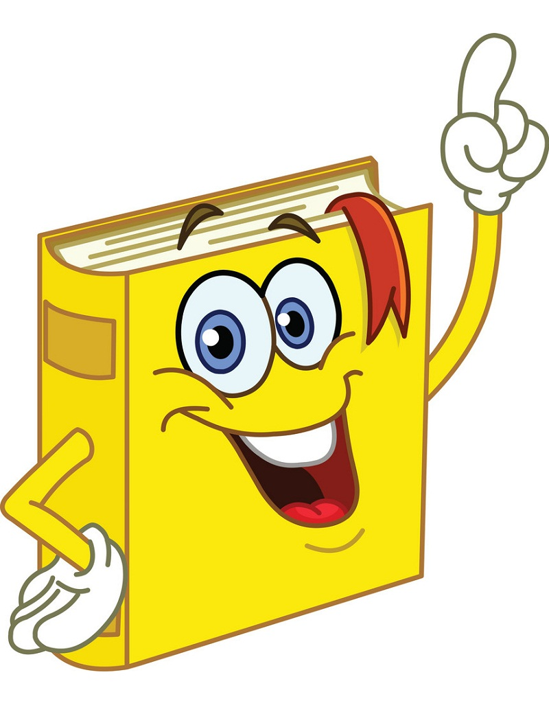 cartoon yellow book