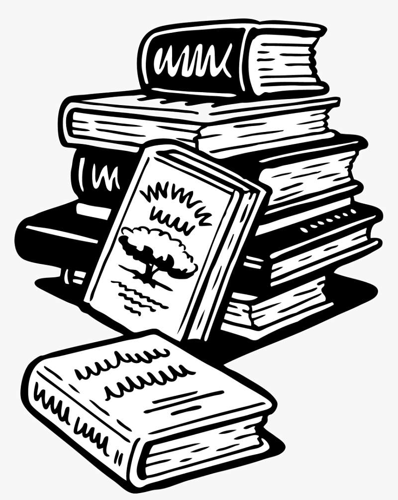 book clipart black and white 1