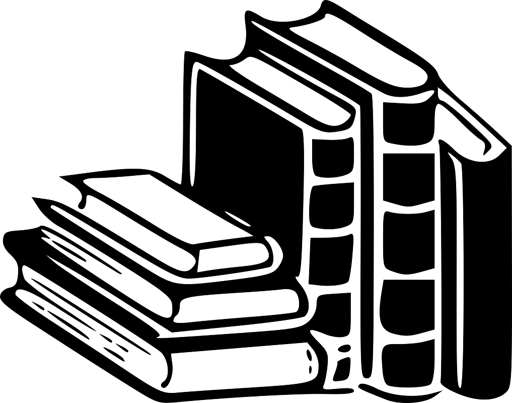 book clipart black and white 2