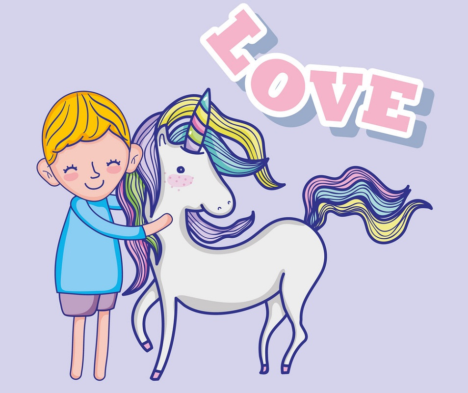 boy love unicorn