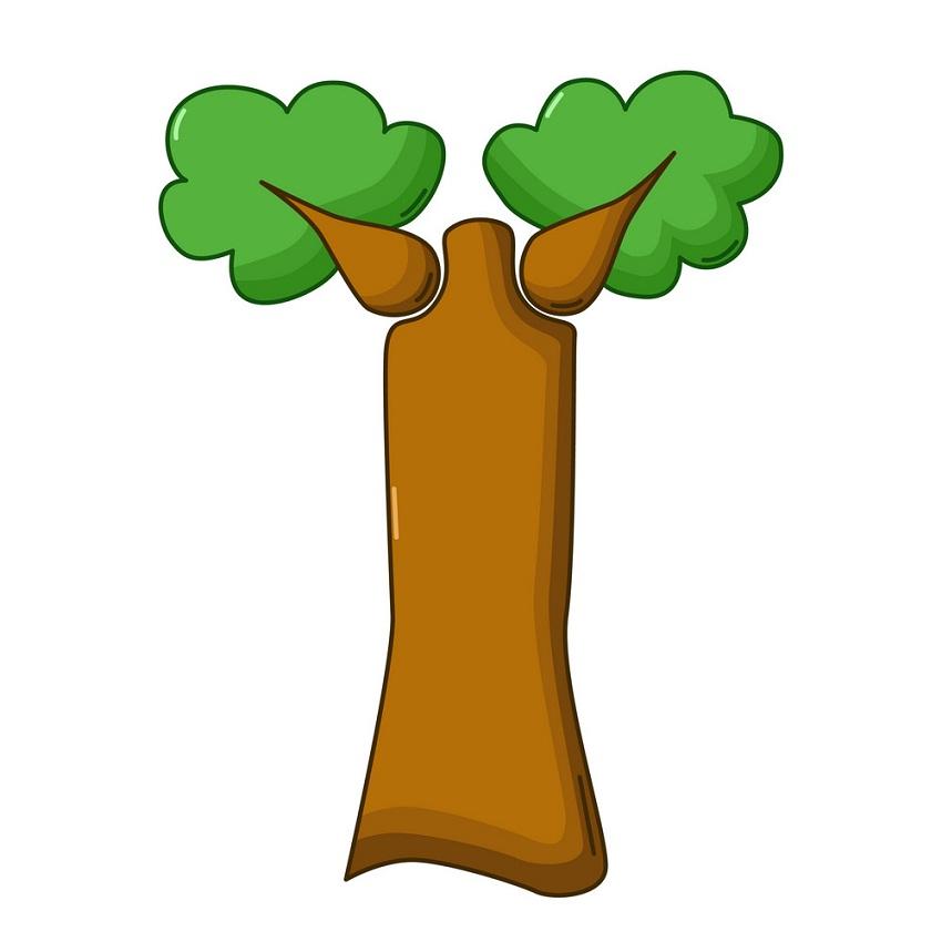 cartoon baobab tree