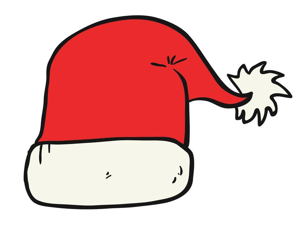 cartoon santa hat 1
