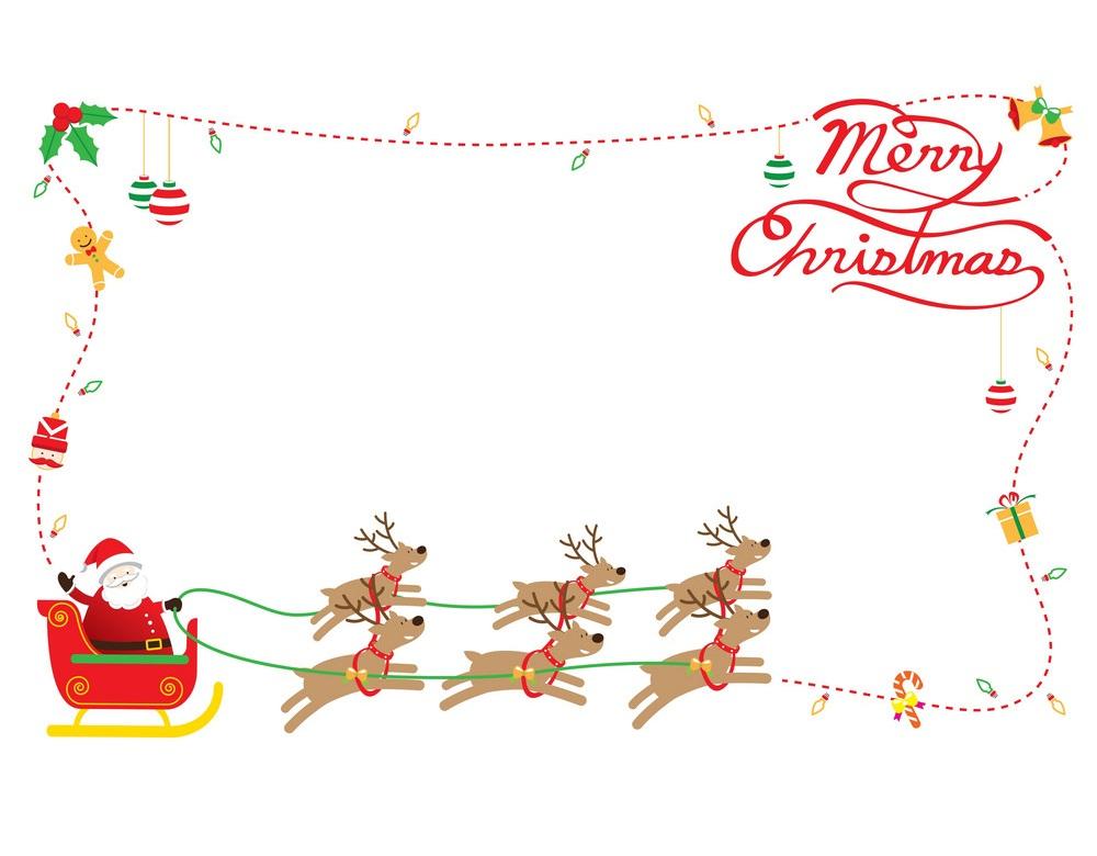 christmas border with santa