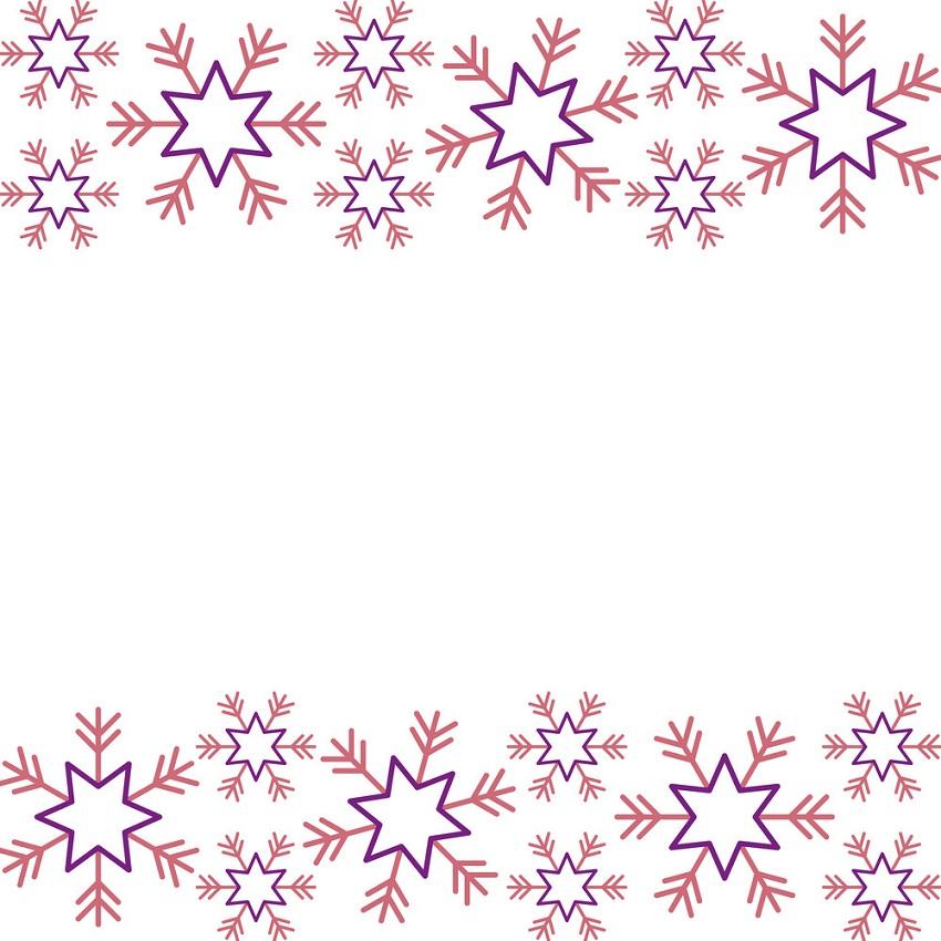 christmas border with snowflake