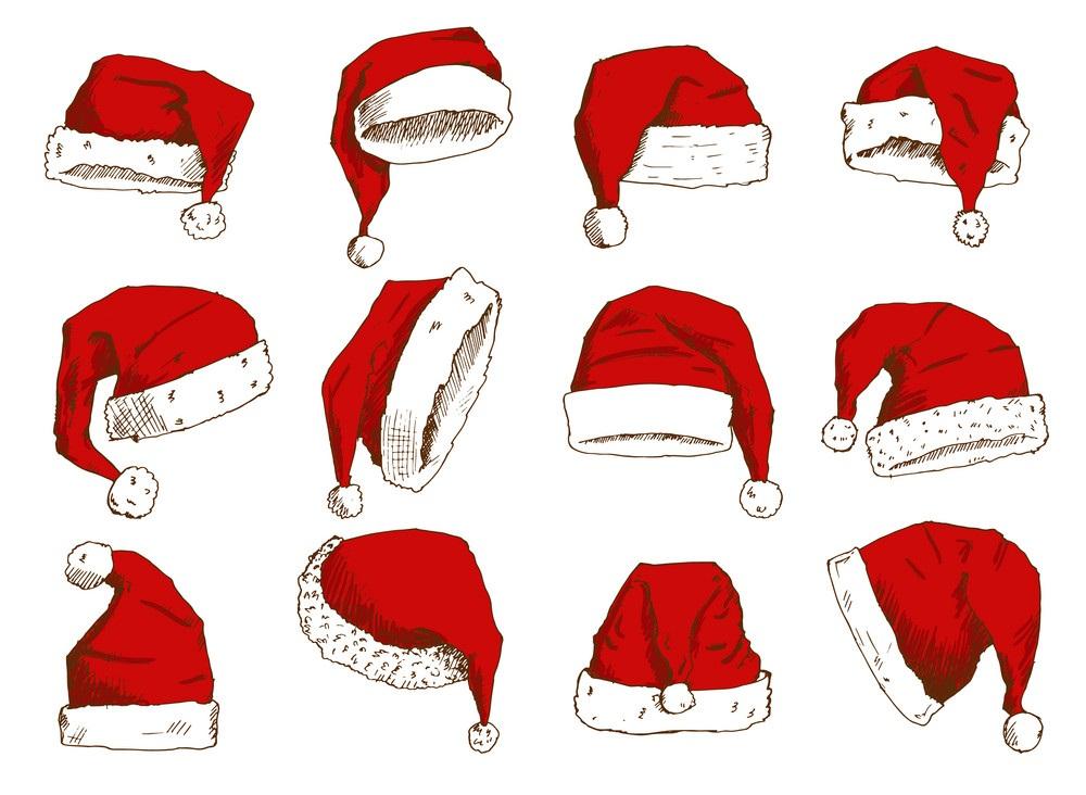 collection of santa hats