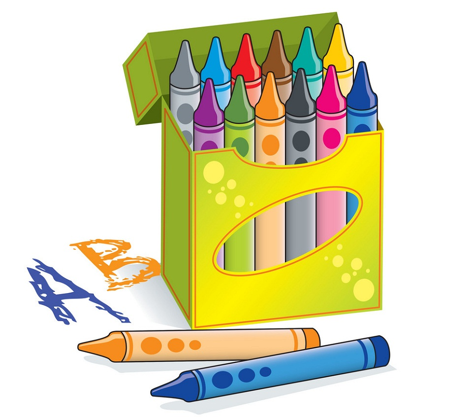 crayons in a box