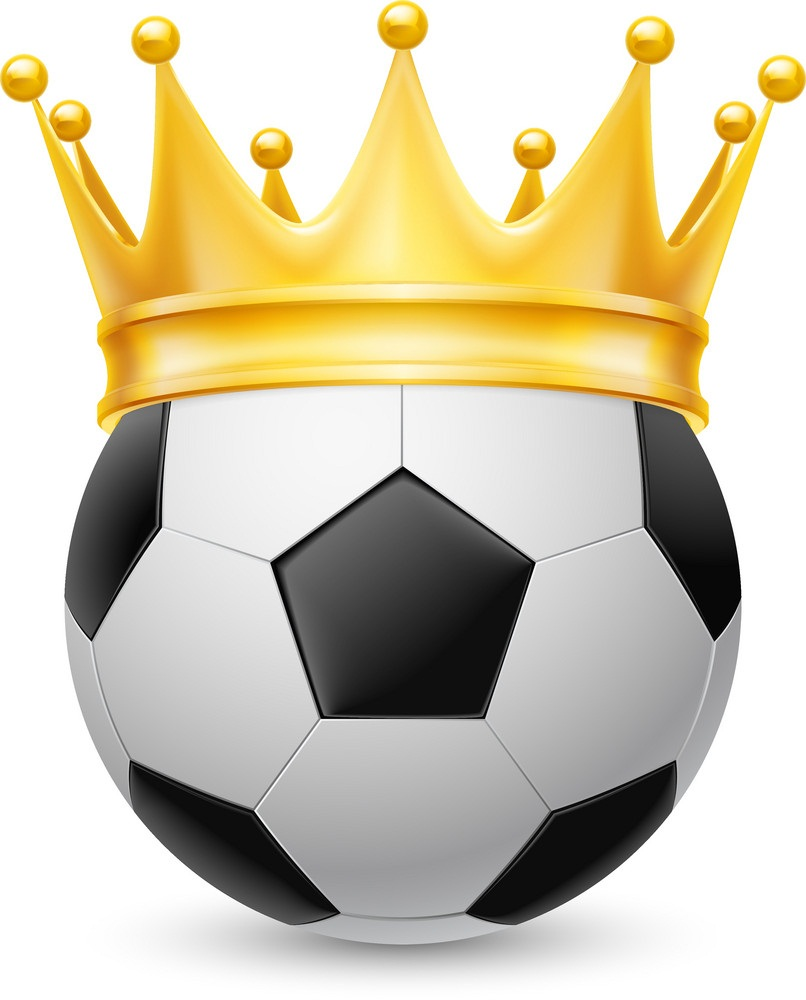 crown on soccer ball