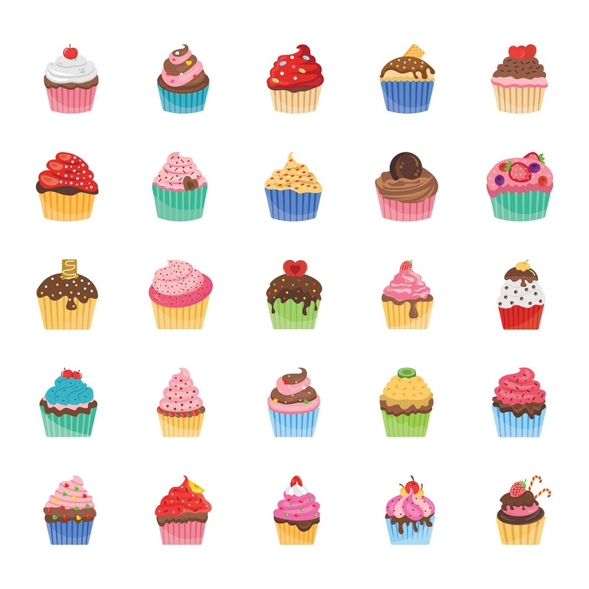 cupcake icons pack