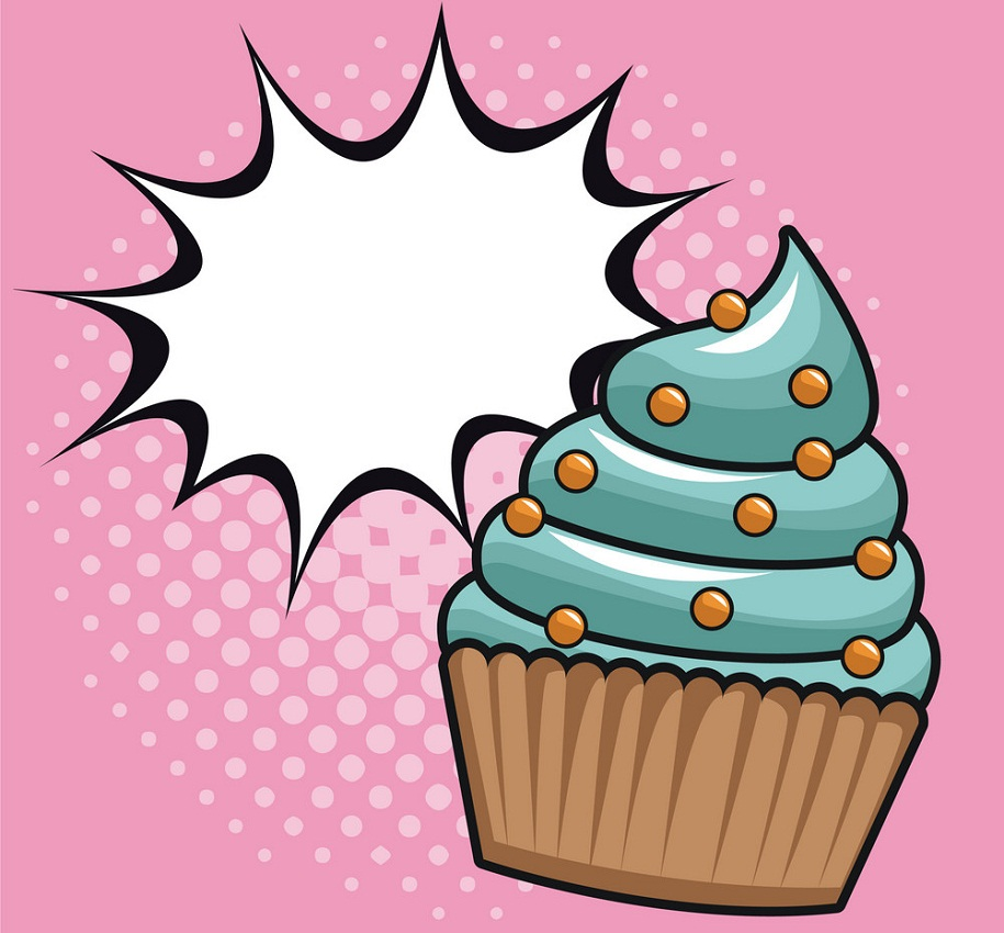 cupcake pop art