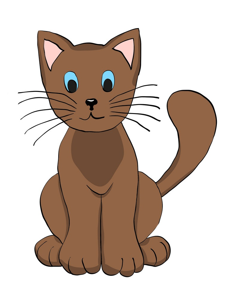 hand drawn brown cat