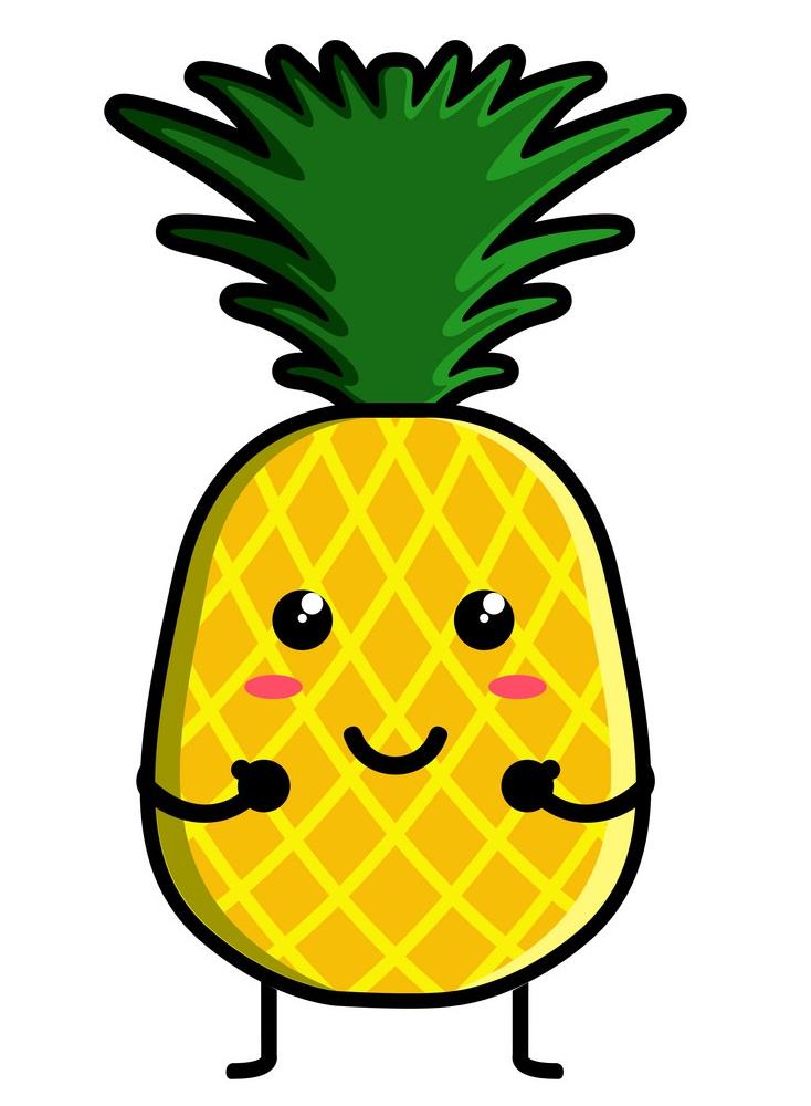 cute pineapple emoticon