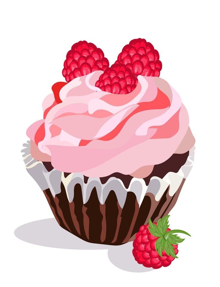delecious raspberry cupcake