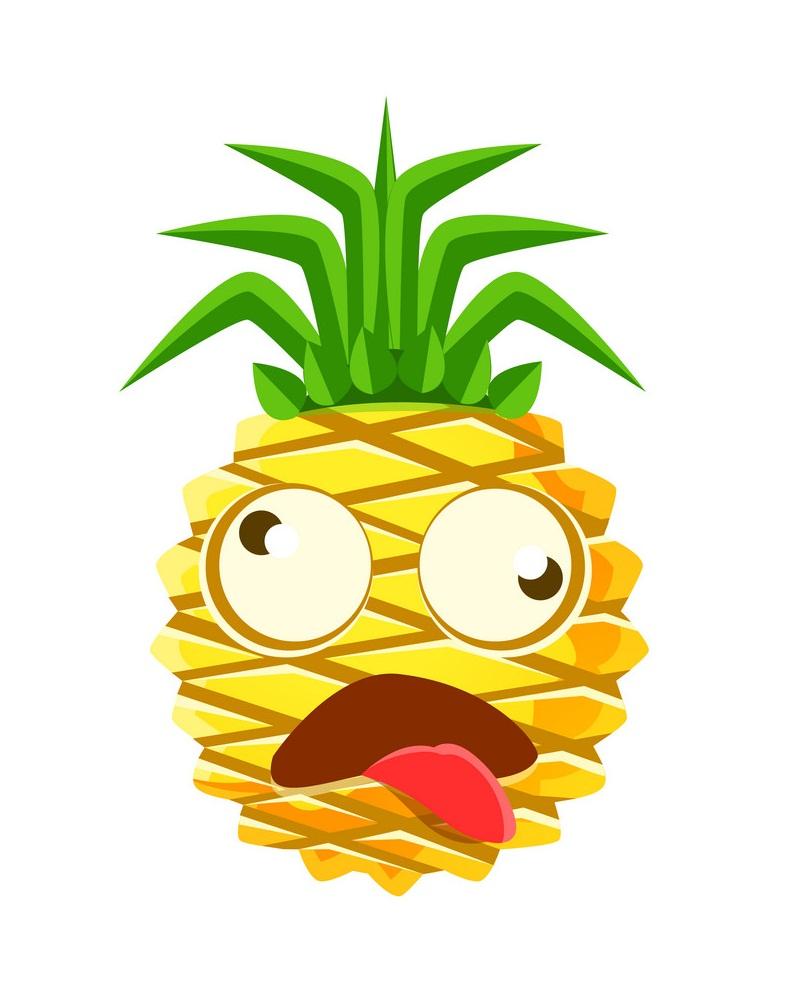 dizzy pineapple emoticon