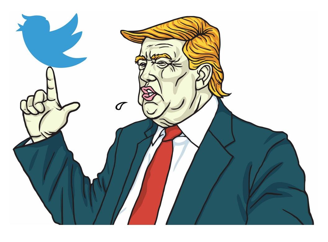 Donald trump talks about Twitter