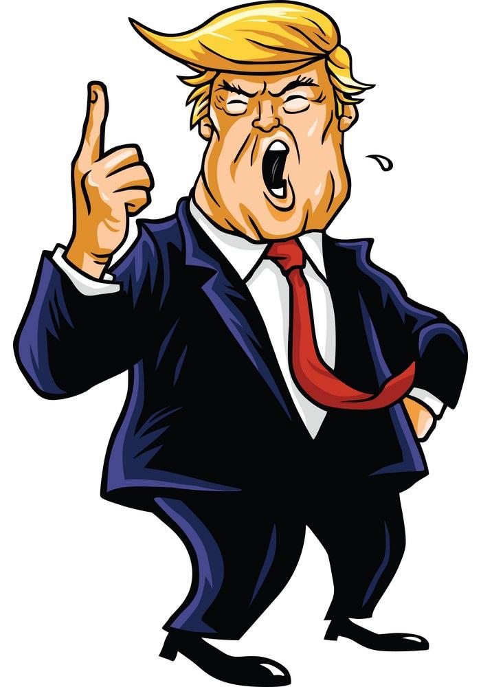 donald trump talking loud