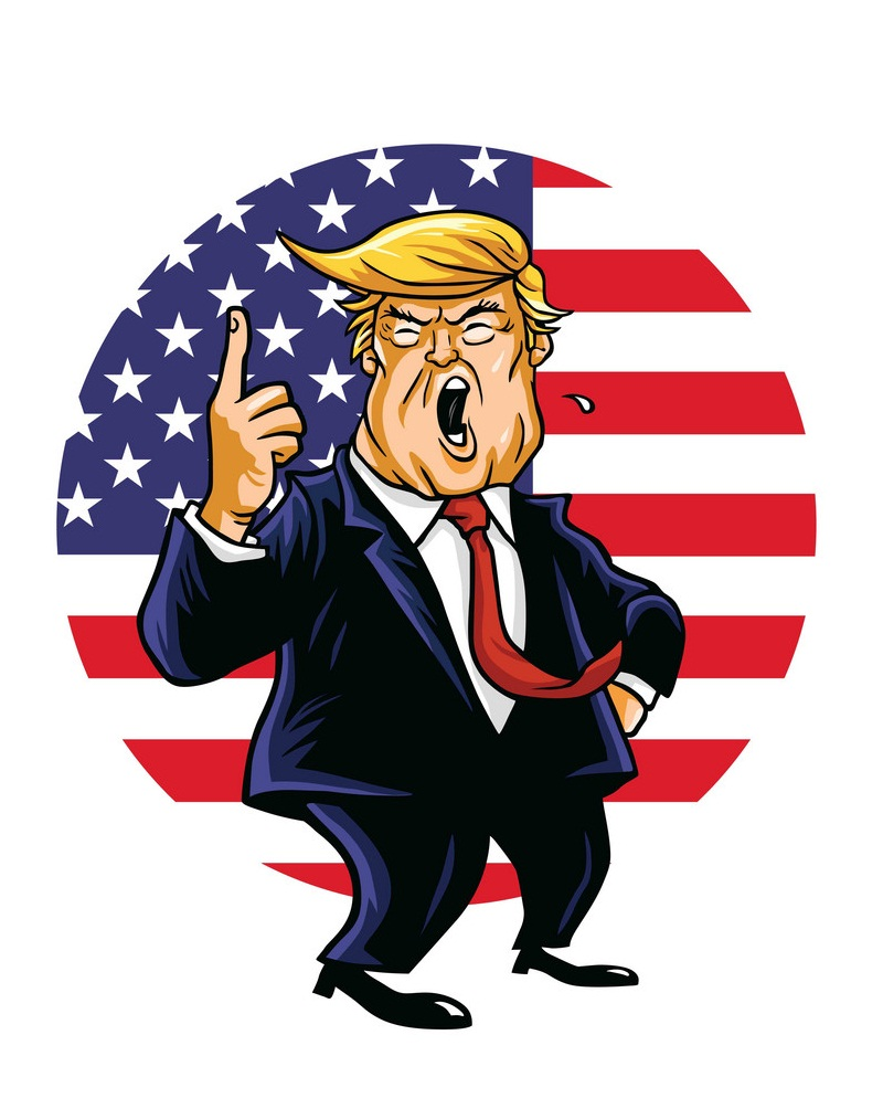 donald trump and flag