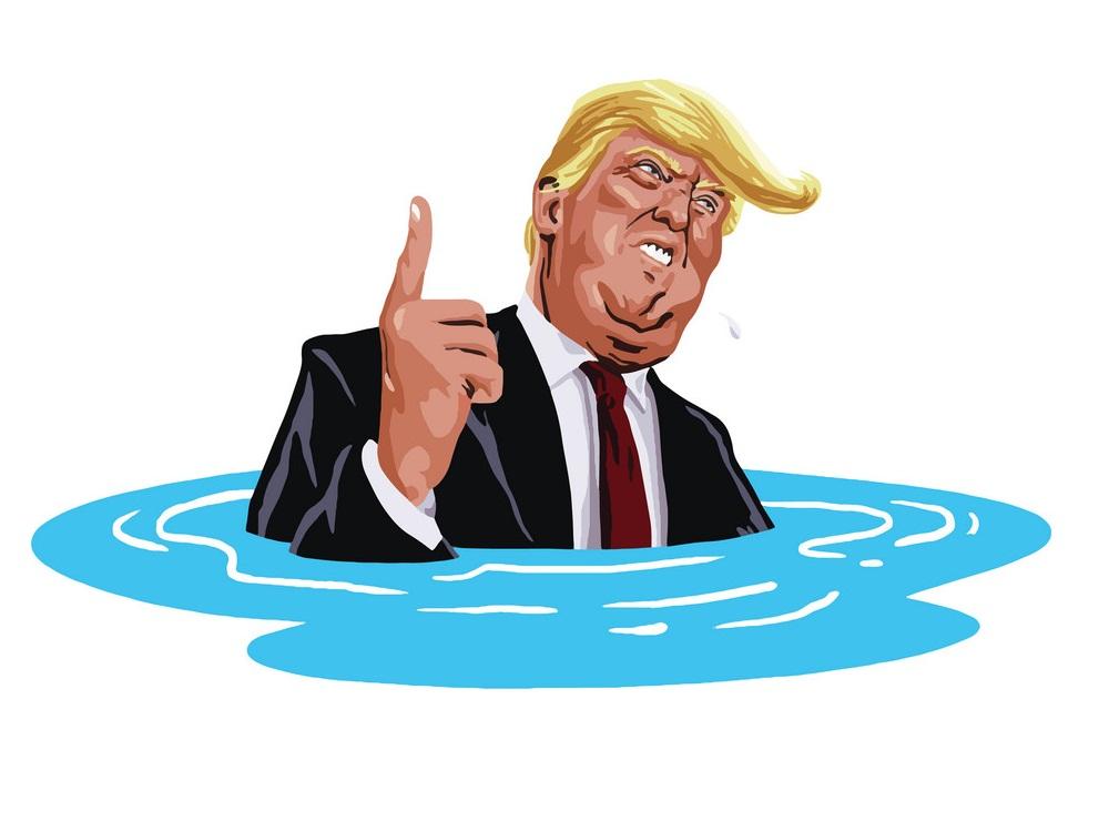 donald trump sinking