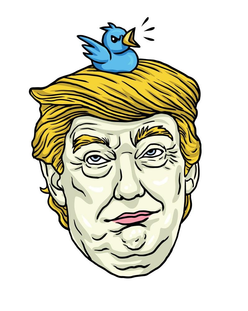 donald trump with his pet bird