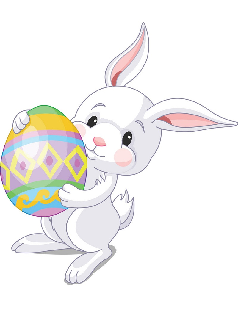 easter bunny and big easter egg