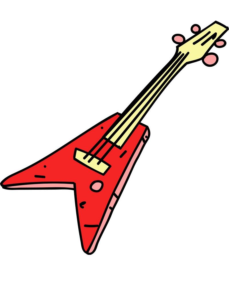 electric guitar hand drawn