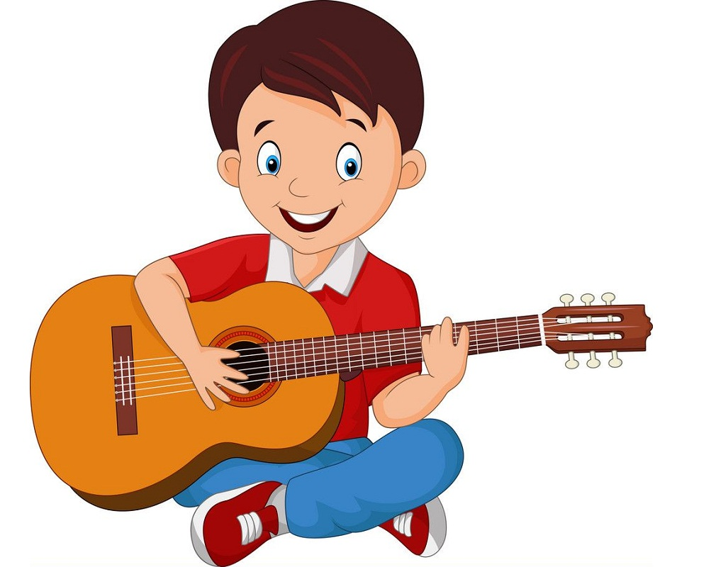 boy with his guitar