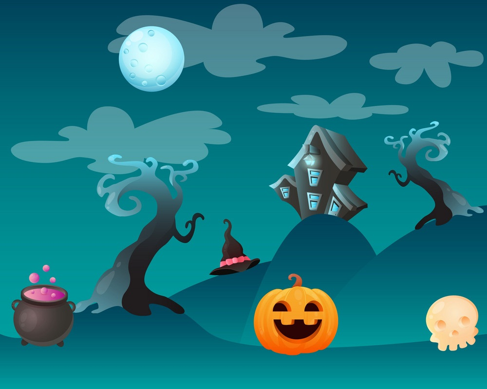 fantasty halloween landscape