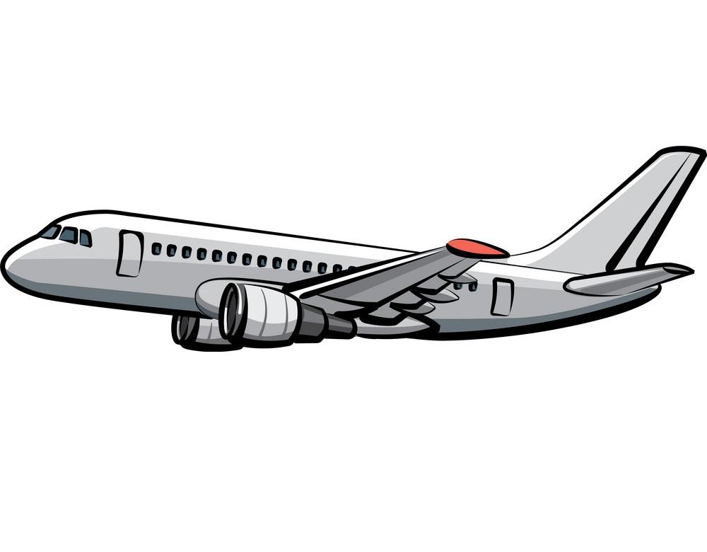 flying passenger airplane