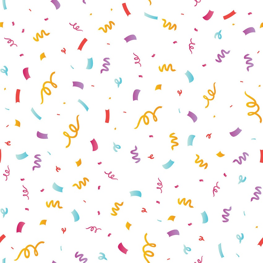fun confetti seamless pattern