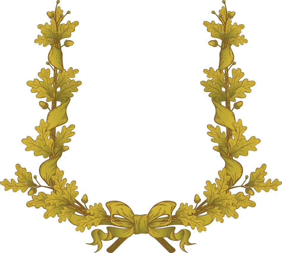 gold oak wreath